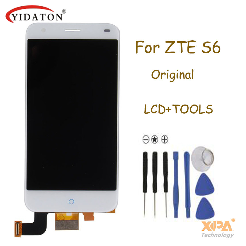 For ZTE Blade S6 LCD Screen Original LCD Display +Touch Screen Assembly Replacement For ZTE Blade S6 Smartphone Free Shipping 5pcs lot100% new original for zte grand memo 5 7 n5 u5 n9520 v9815 lcd display touch screen assembly free shipping 100% tested