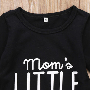 Boy's Mom's Little Boy Printed Jumpsuit 2