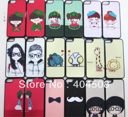 Shinney Glitter Bling Shimmering Powder Hard Back cover shell skin For Iphone 4 4s 5 5s cartoon cute mobile case 30pcs/lot