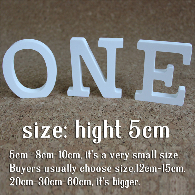 Aliexpresscom Buy 5cm Digital Number And Artificial Wooden Wood Letters Home Decorations Carving White Letter Used For Wedding Decorations From