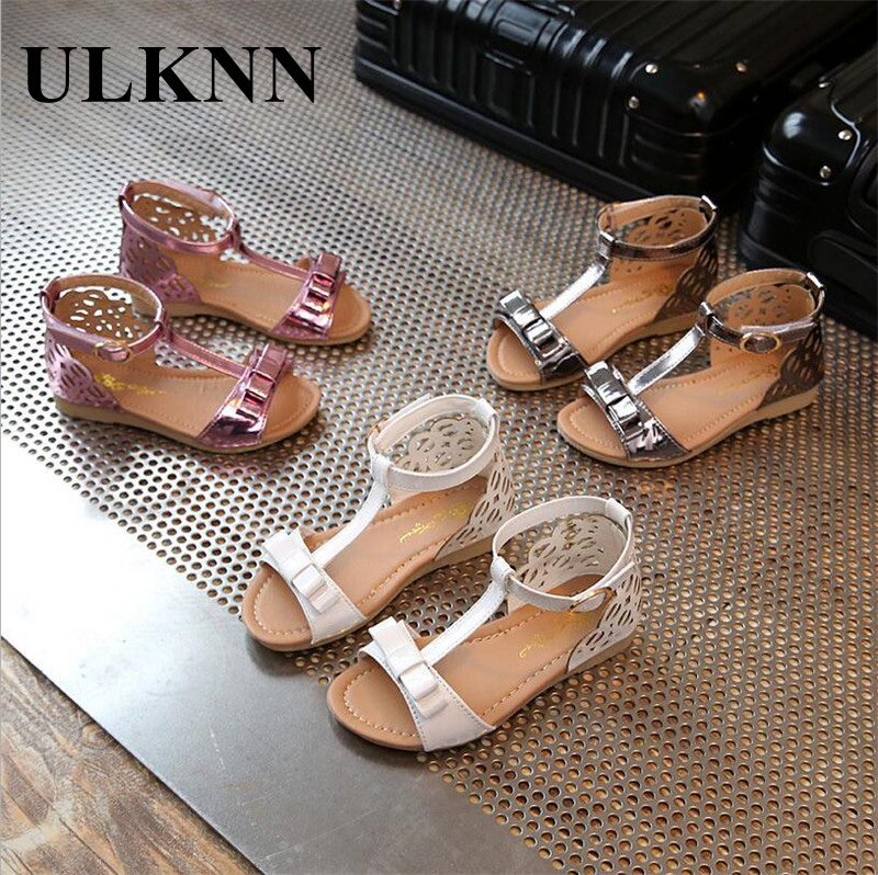 948718602415a ULKNN Enfants Sandales Filles D été 2018 Nouvelle Vente Chaude Fille  Chaussures Pour Filles Mode Princesse Blanc Enfants Chaussures taille 26 30  dans ...