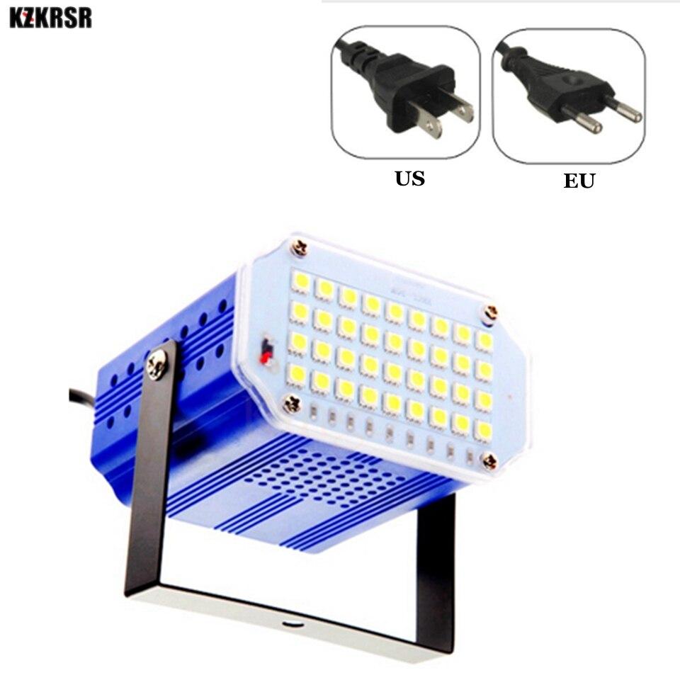 KZKRSR AC85-265V Flash 36 Leds DJ Disco Strobe Light Sound Voice Music Control Stroboscope Led Stage Effect Party Club Show Lamp