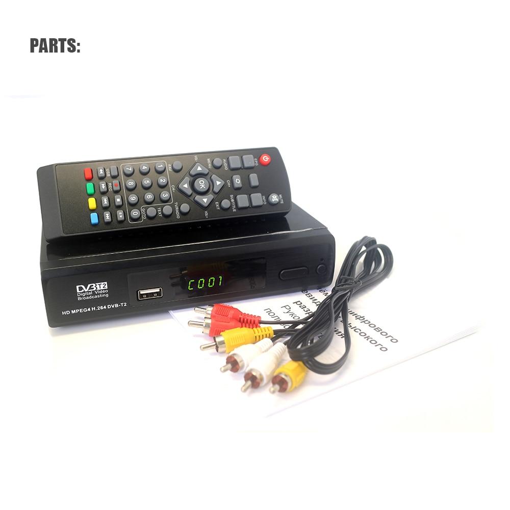 Vmade New TV Receiver Equipment DVB T2 M2 Full HD Digital Terrestrial Receiver Flash32M USB 2.0 Support MPEG2/4 H.264 DVB TV BOX