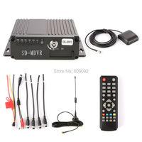 4CH Car Mobile DVR 2 SD Card 3G 4G Wifi GPS Antenna AHD Realtime Video Recorder