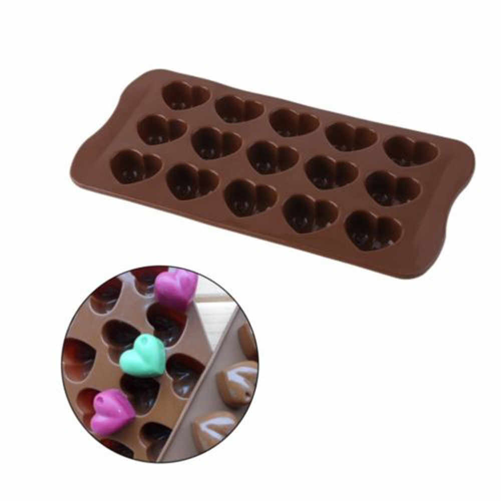 Love Heart Jelly Ice Fudge Sugar Tool 1PC DIY 3D Heart Shape Cake Mold Non-stick Silicone Chocolate Mold