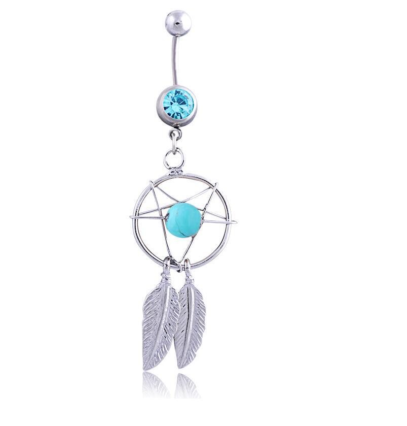Cross belly button ring-6321