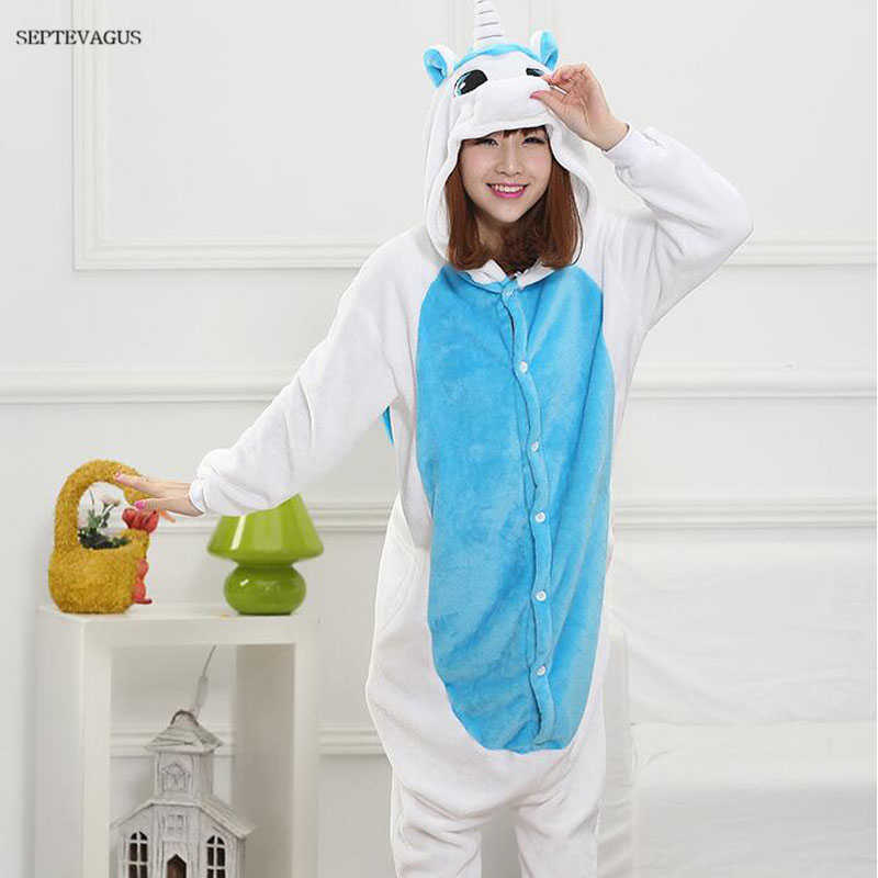 Winter Women Animal Stich Pajamas Kugurumi Unicorn Couple Pijama Warm Soft  Sleepwear Kigurumi for Adults  6df12222d66a2