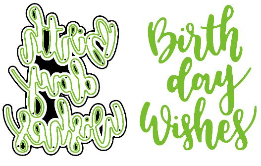 New Birthday Wishes Metal Cutting Dies Stencil for DIY Scrapbooking Photo Album Embossin ...