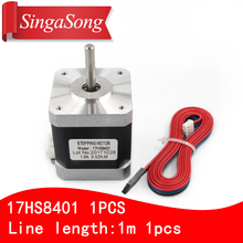 Free shipping 1PCS 4-lead Nema17 Stepper Motor 42 motor 17HS8401 1.8A CE ROSH ISO CNC Laser and 3D printer with DuPont line