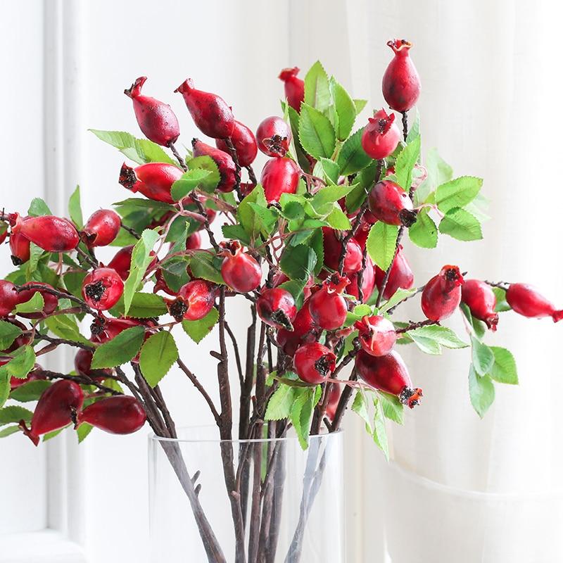 Miz 5 Äste Stieg Obst Künstliche Pflanze Dekorative Simulation ...