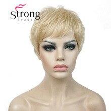 StrongBeauty Super Kurz Layered und Spikey Blonde Volle Synthetische Perücke Perücken Schwarz Braun FARBE ENTSCHEIDUNGEN