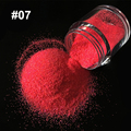 1X10g Nail Art Glitter Polvo de Azúcar Pigmento 3D Lentejuelas Consejos mezcla de color Rosa Rosa Polvo de Color Caramelo Color de Uñas Glitter Powder 1307