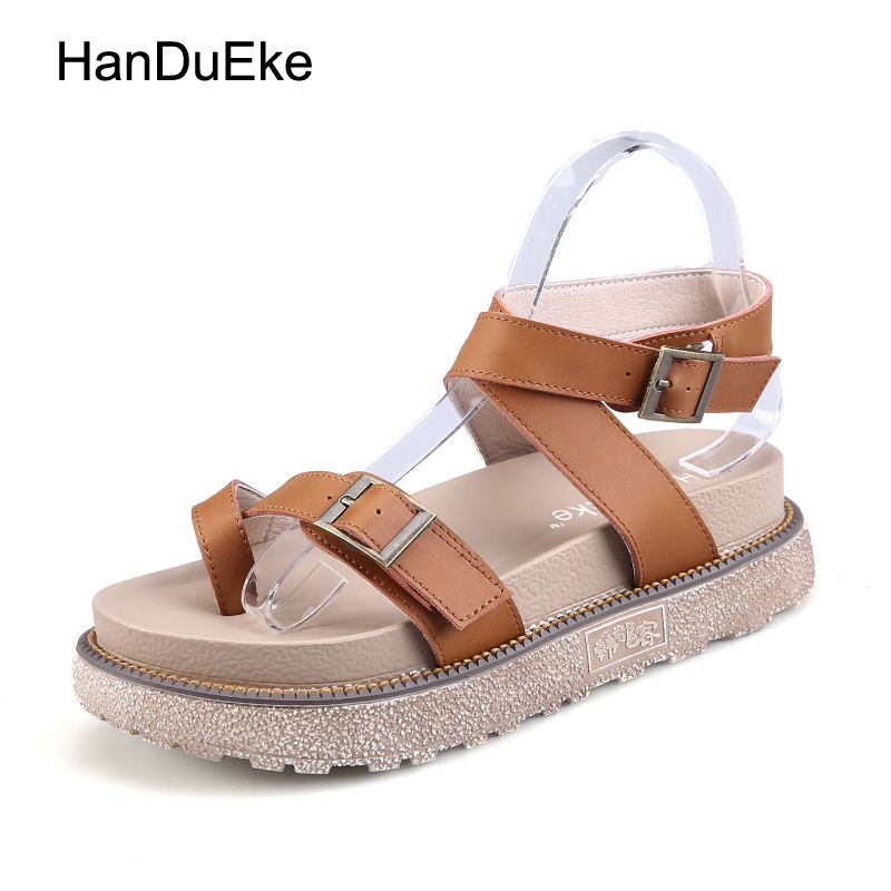 New Women Rome Gladiator Sandals Fashion Summer Sandals Wedges Platform Shoes Zapatillas Chinelo Sandalia Metal Buckle 35-43 phyanic 2017 gladiator sandals gold silver shoes woman summer platform wedges glitters creepers casual women shoes phy3323