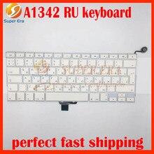 """A1342 RU keyboard for macbook 13.3"""" white A1342 unibody 2009 2010year RU big enter EU layout Russia Russian"""