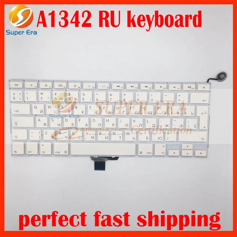A1342 RU toetsenbord voor macbook 13.3 '' wit A1342 unibody 2009 - Notebook accessoires