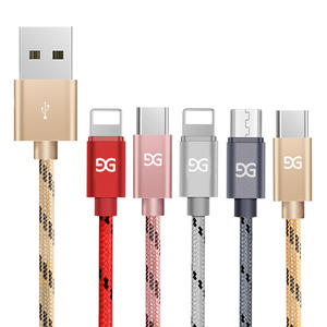 GUSGU USB Cable Charger For iPhone Samsung Huawei Xiaomi Micro USB Mobile Phone Cables Car Fast Charger Cord Nylon USB Charger C