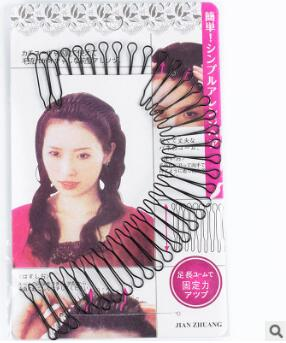 Garfos de Cabelo Acessórios de Cabelo Preto Bendable Invisibilidade Estrondo Headband u Estilo 4 Tamanho Hair Care & Styling Tools Ha010