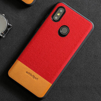 luxury materials suede and cowhide stitching phone case for xioami mix 2s all inclusive phone protection case wangcangli