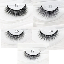 1 Pair 100% Real Siberian 3D Mink Lashes Full Strip False Eyelash Long Individual Eyelashes Mink Lashes Extension