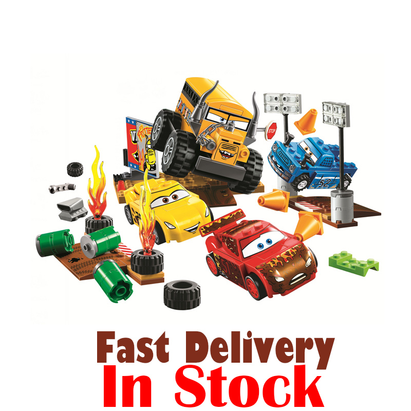 Pixar Race Racing Car City Technic Building Blocks Educational Compatible Toys For Boys Girls Children Christmas Gifts