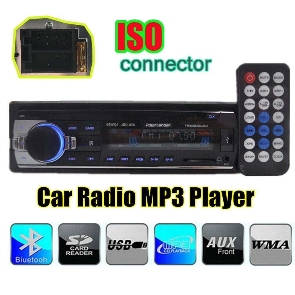 NEW 12V 1 DIN handfree call Car font b Radio b font stereo MP3 car audio