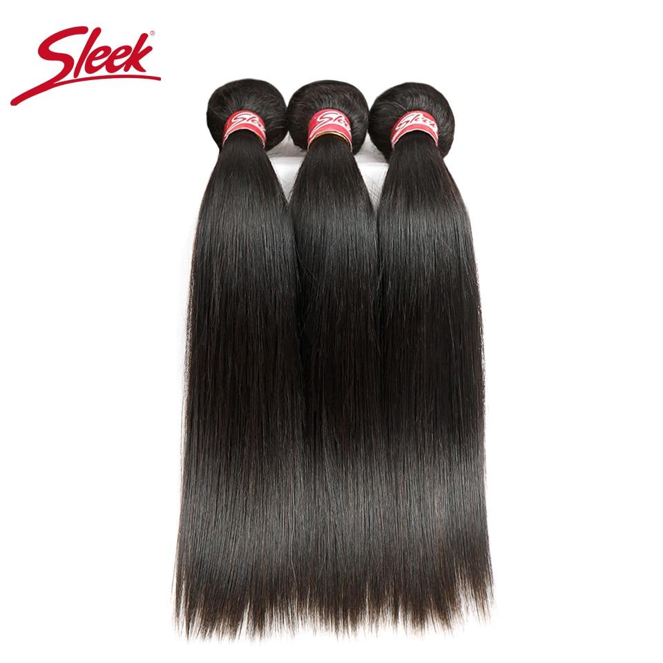 Sleek Straight Brazilian Hair Weave Bundles Deal Human Hair Extension Vendors 8 To 28 30 Inch Remy 100% Human Hair Bundles(China)