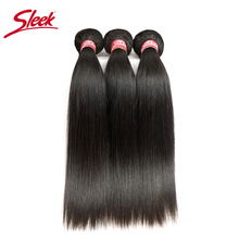 Sleek Straight Brazilian Hair Weave Bundles Deal Human Hair Extension Vendors 8 To 28 30 Inch Remy 100% Human Hair Bundles