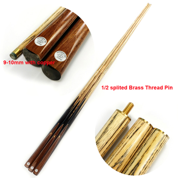 xmlivet latest handmade Snooker cues 1/2 splited brass joint ash shaft in 9.5mm-10mm tips Pool cue stick High quality China
