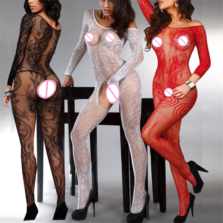 Open Crotch Bodystocking Bodysuit Fetish Body Encaje Tights Exotic Lingerie Jumpsuit Catsuit Crotchless Body Stocking	 Baby Doll