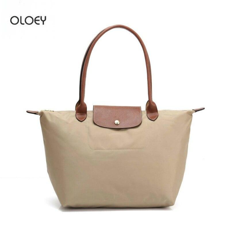 OLOEY Femmes de Nouveau Nylon 1 sac de rangement Grande Capacité sac fourre-tout Double sac à bandoulière Longue Poignée sac fourre-tout