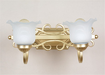 American minimalist retro iron wall lamp wall lamp LED crystal wall two bronze lamp / bedroom home lighting Free Shipping