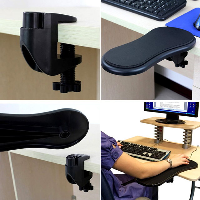 Attachable Armrest Pad Desk Computer Table Arm Support Mouse Pads Arm Wrist Rests Chair Extender 5