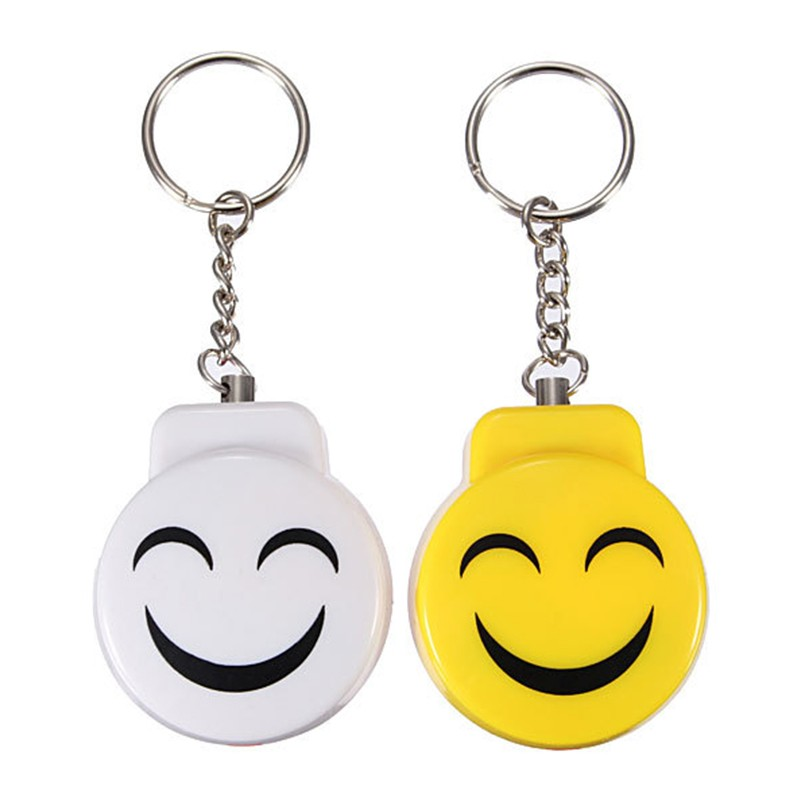 ENKLOV Smiley Face Self-defense Alarm Keychain 120dB Security Siren Personal Alarm Protection Means Self Defence ...