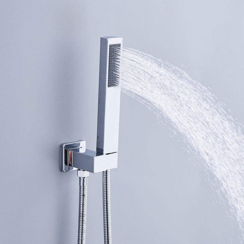 Luxury Rain Bath Combination Shower Mixer Digital Wall Mounted ...