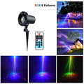 Laser Christmas Projector Outdoor 8 Patterns RGB Waterproof Light Shower With Wireless Remote Control For Garden Decoration