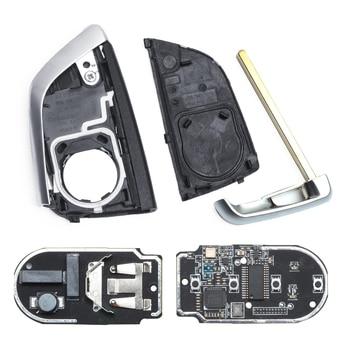 Clé De Remplacement Bmw | Keyecu CAS4 + Télécommande De Remplacement Porte-clés 4 Boutons 315/433/868MHz Pour BMW 1 2 3 4 5 6 7 Série X1 X3 F Châssis FEM 2011-2017