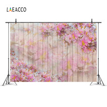 Photographic Backdrops Wooden-Boards Laeacco Flowers-Pattern Customized for Planks-Texture