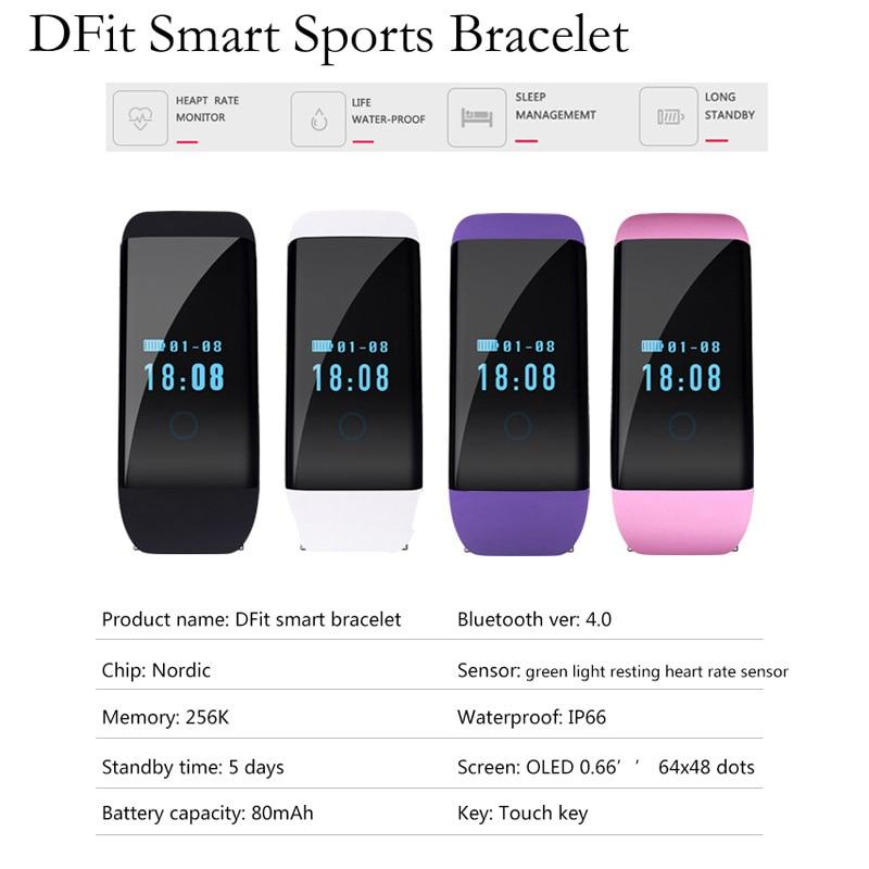 ФОТО Bluetooth smart SPORTS BRACELET heart rate monitoring IP66 waterproof watch
