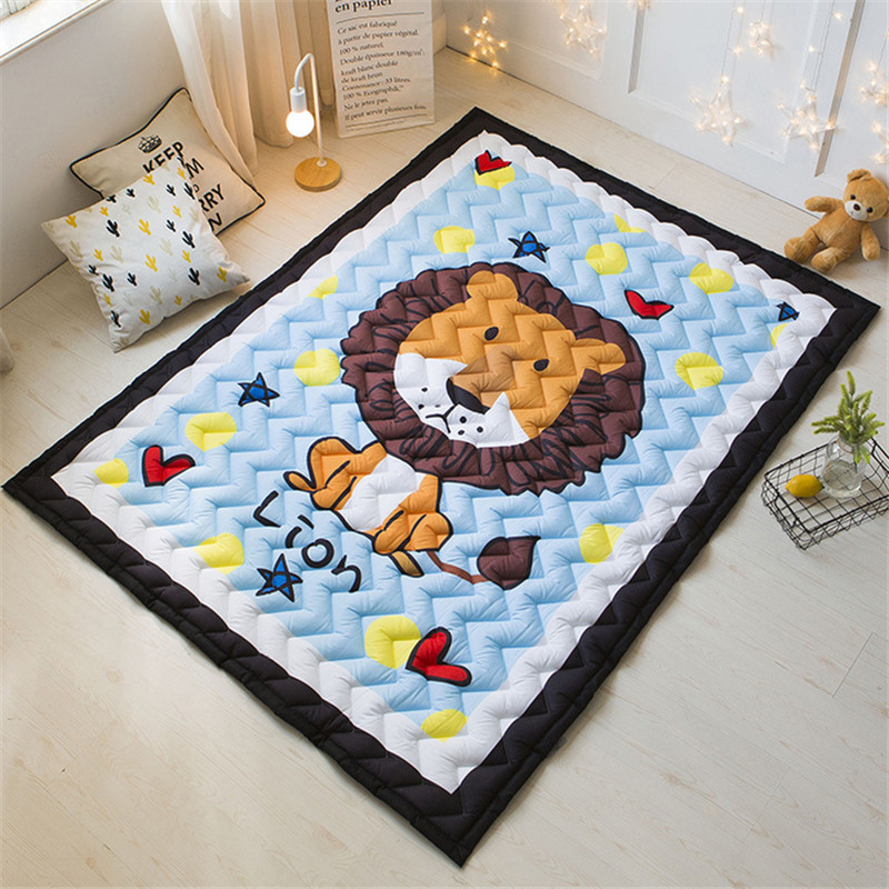 Cartoon blanket 145*195cm cars pig panda baby child playmat dinosaur animals rug boys girls game carpet 2 sizes cotton mats bears floormat cartoon playmat boys girls game carpet animals blanket baby child 2 5cm rug skidproof yoga 150 200cm picnic mat