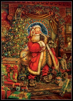 Needlework for embroidery DIY French DMC High Quality - Counted Cross Stitch Kits 14 ct Oil painting - Christmas Presence