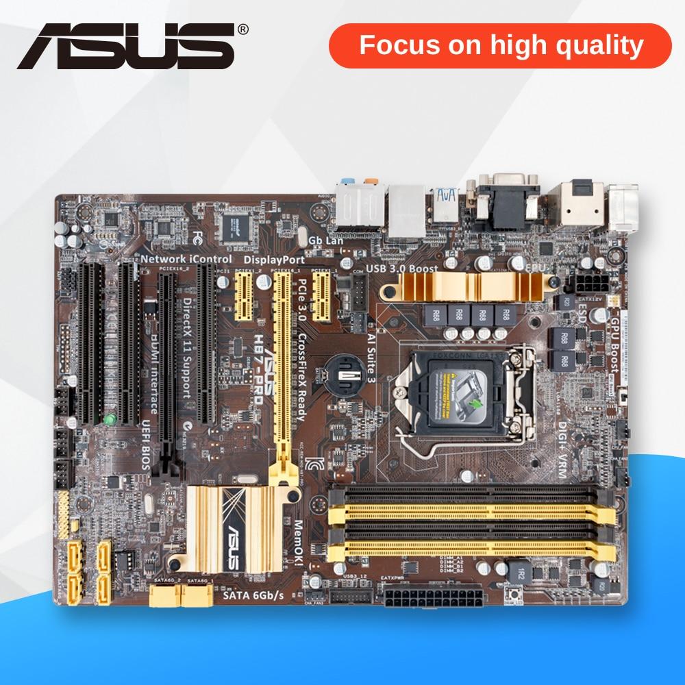 Asus H87-PRO Desktop Motherboard H87 Socket LGA 1150 i7 i5 i3 DDR3 32G SATA3 UBS3.0 ATX asus h87 plus original used desktop motherboard h87 socket lga 1150 i7 i5 i3 ddr3 32g sata3 ubs3 0 atx