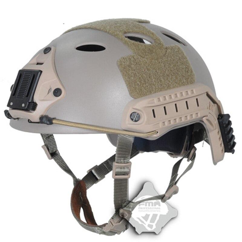 FMA быстро военно-тактические спортивный шлем PJ Тип Airsoft Пейнтбол крепление для ПНВ кронштейны TB819 DE шлем