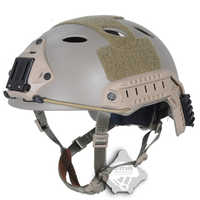 FMA Fast Military Tactical Sports Helmet PJ Type Version Airsoft Paintball NVG Mount Brackets TB819 DE Helmet