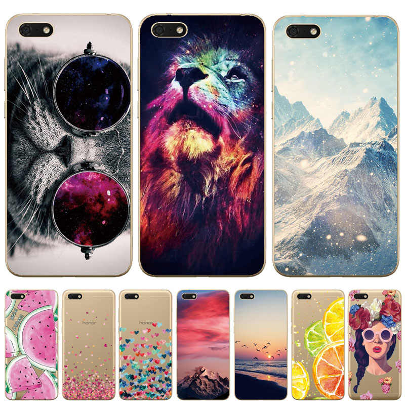 "Soft TPU Silicone case For Huawei Honor 7A Case 5.45"" Y5 2018 Case for Huawei Honor 7A DUA-L22 Russian Back Cover Coque bumper"