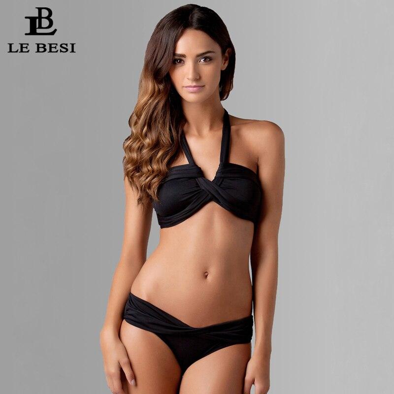 LE BESI2016 Yeni Bikinis İki Parçalı Üç Üslublu Mayo Qadın - İdman geyimləri və aksesuarları - Fotoqrafiya 1