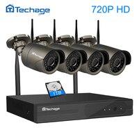 Techageプラグアンドプレイ4ch 1080 pのhdワイヤレスnvrキットp2p 720 p屋内屋外irナイトビジョンセキュリティipカメラwifi cctvシステム
