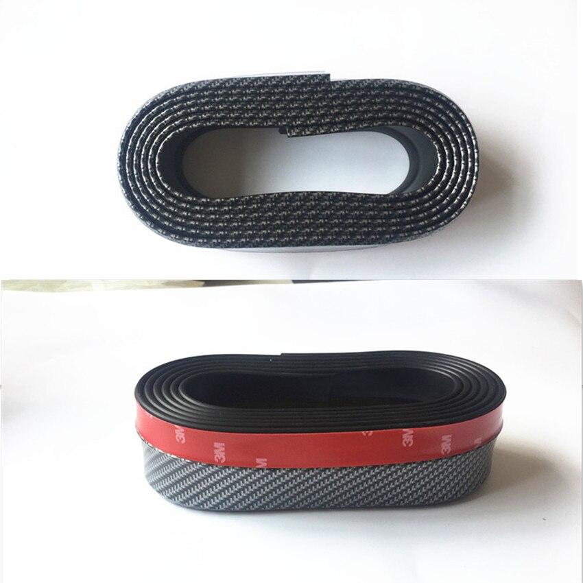 Car Protector Front Bumper Carbon fiber Rubber FOR mitsubishi lancer 9 kia rio soul 3 vw passat b5 honda civic accessories