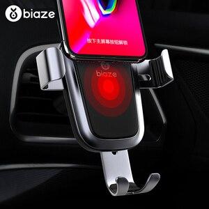 Image 3 - Biaze Автомобильный держатель для телефона 10 Вт Qi Беспроводное Автомобильное зарядное устройство для iPhone XS Max X XR 8 быстрое автомобильное беспроводное зарядное устройство для Samsung Note 9 S9 S8