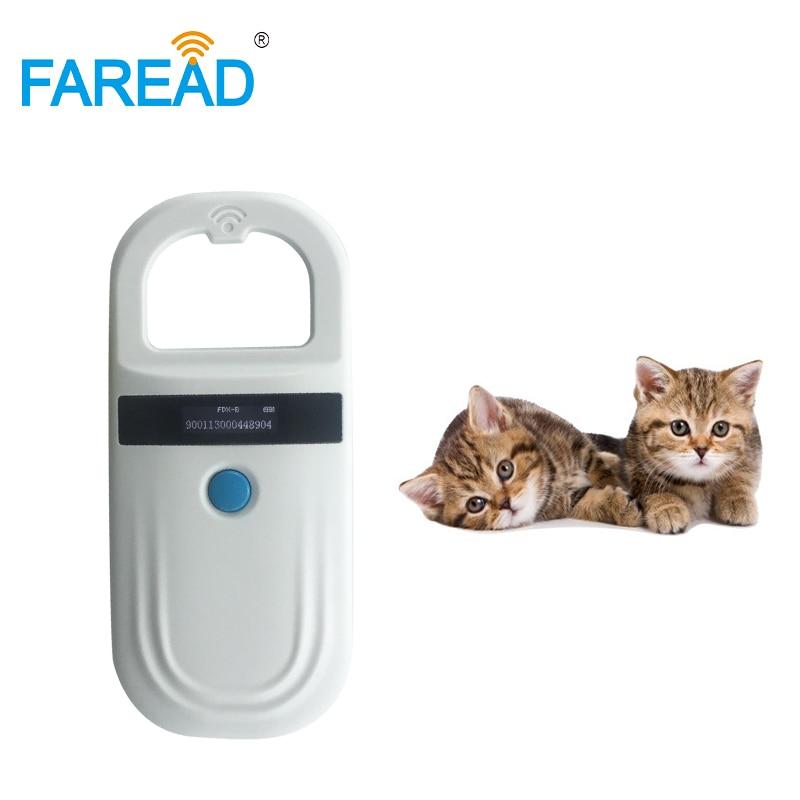 Бесплатная доставка микрочип RFID Сканер чтения для собаки кошки лошади животного FDX-B хранения данных