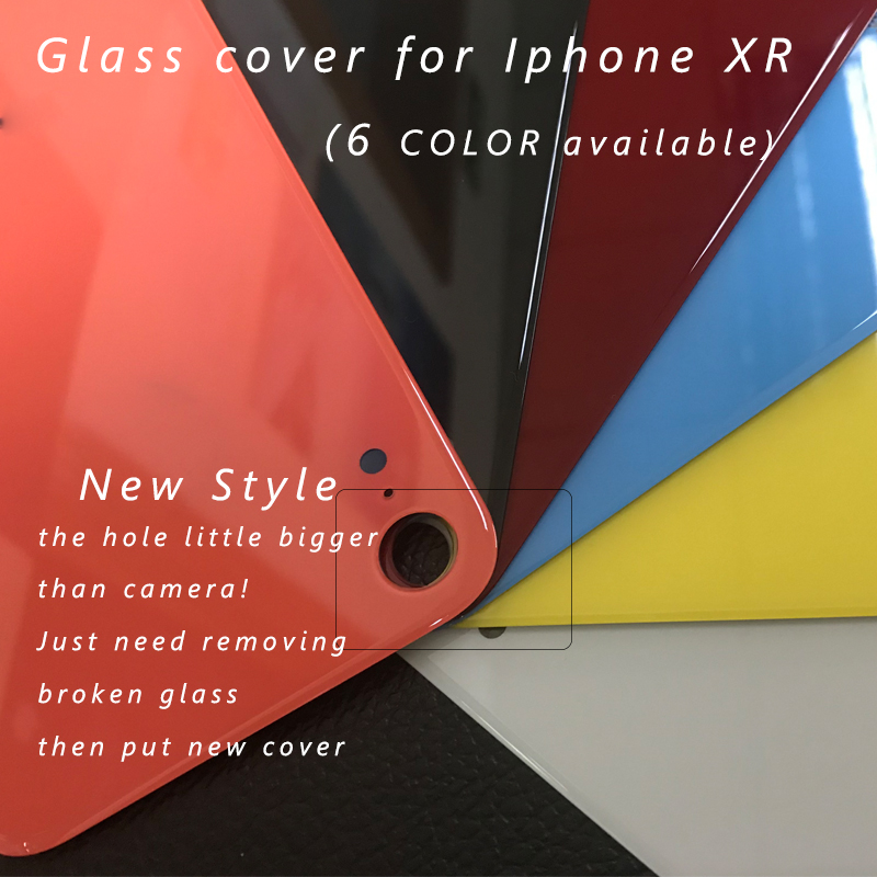 Rear-Housing-Replacement iPhone Back-Cover Adhesive Glass for XR Rear-Door Body Assemble